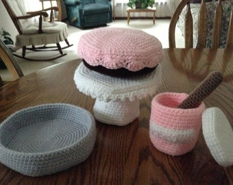 Crochet Cake Baking Set, Made to Order