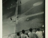 "Vintage Snapshot Photo ""American Afternoon"" Baseball Game Antique Photo Black & White Photograph Found Photo Paper Ephemera Vernacular - 185"