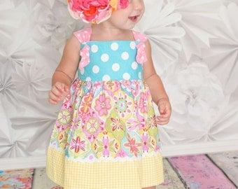 READY TO SHIP Sugarplum Baby Girl Dress