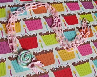 Sweet Lollipop Bow Necklace