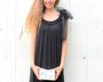 Half Off SALE use code: finishwell,  Little Black Dress, LBD,  Dress for wedding, black elegant dress, evening dress, sleeveless dress