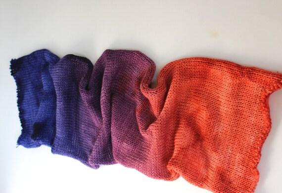 doubleknit sock blank sunset canyon yarn hand