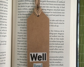 Well Read Paper Bookmark Laminated with Ribbon