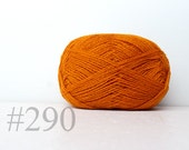 WOOL yarn 100%-knitting yarn -  pumpkin orange #290
