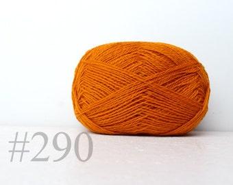 WOOL yarn 100%-knitting yarn -  pumpkin orange #290