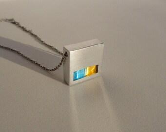 Geometric Metal Necklace – Geometric Jewelry – Minimalist Jewelry – Modern Contemporary Jewelry Design