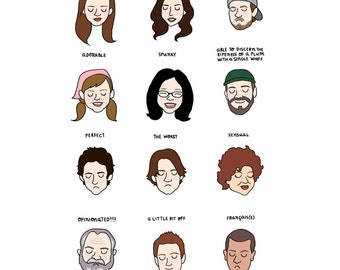 Gilmore Girls Mood Chart Print - Hand-Illustrated