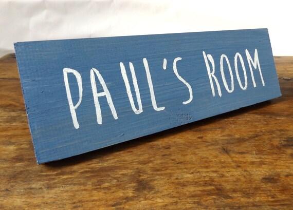 Personalised room sign wooden door sign bedroom by makememento - Wooden door signs for home ...