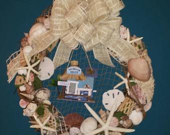 Beach House Seashell Wreath