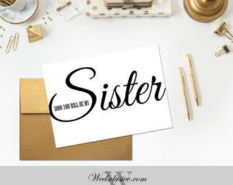 Soon You Will Be My Sister, Sister In Law Card, Wedding Day Card, Future In Laws Gift - PRINTABLE - Instant Download