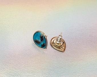 Alien Earrings // Alien Jewelry // 90s Grunge //