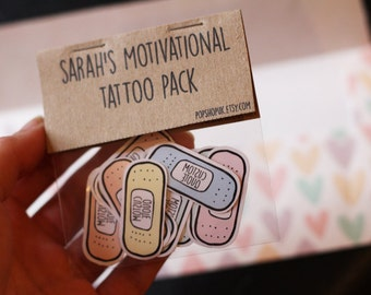 Band aid motivational tattoo pack uplifting by popshopuk for Band aid tattoo