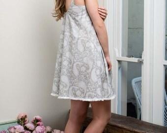 Lilliella Tassel Nightie | Cotton Voile Nightdress | Made in Australia
