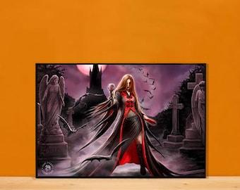 Vampire Graveyard 3D Lenticular Art Print or Framed 3D Art Print
