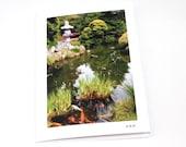 Blank Greeting Cards Japanese Garden San Francisco California Zen Photography Nature Serene Scenery Meditation Calm Photo, Mother's Day Card