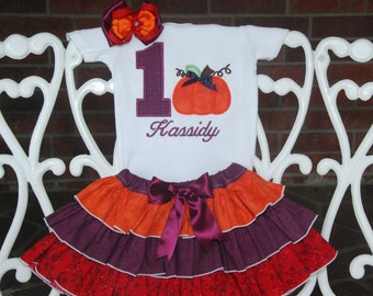 Fall Pumpkin Birthday Outfit! Pumpkin First Birthday Outfit/Pumpkin Birthday/Fall Birthday Outfit/Thanksgiving Birthday Outfit/Pumpkin