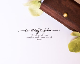 Custom Calligraphy Address Stamp, made to order
