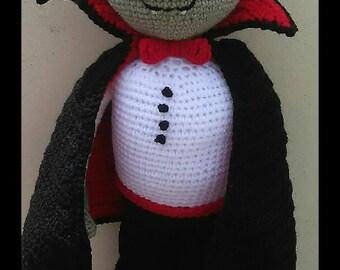 Vladimir the Vampire, Crochet Vampire, toy vampire, halloween doll, handmade doll