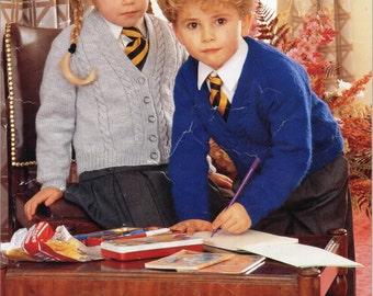 Knitting Pattern School Jumper : Vintage Knitting Pattern pdf. Childs Teenager V Neck School Kinder Garde...