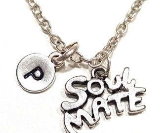 Soulmate Necklace, Soulmate Charm, Soulmate Pendant, Soulmate Jewelry, Girlfriend Necklace, Girlfriend Gifts, Girlfriend Jewelry