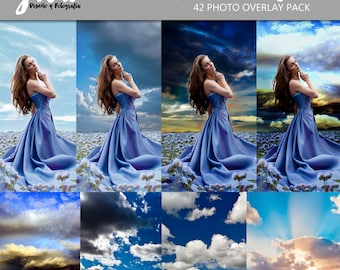 Dramatic Skies Photoshop Overlays, sky, rays of light, rainbows, clouds, photography overlay