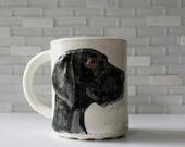Great Dane Mug | dog breed coffee mug tea cup with dutch blue interior glaze | pet dog animal lover gift idea | made to order