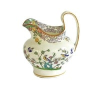 Minton Cream Pitcher / Hand Painted / Flower & Bird Decor / Rare Antique  /  Circa: Early 1900s