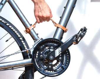 Bicycle carrying Leather handle Bicycle frame handle Bicycle handle Bicycle carry Bicycle rack Bicycle carry