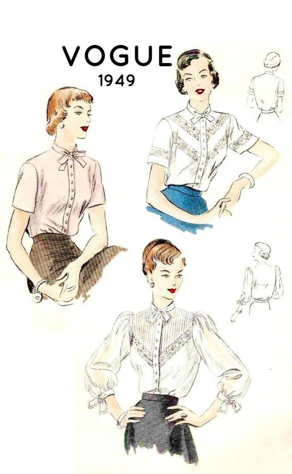 Vogue Blouse Pattern Vintage 21