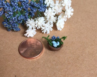 Miniature Birds Nest, Fairy Garden Terrarium Accessory, Woodland Sculpture