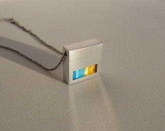 Geometric Metal Necklace – Geometric Jewelry – Minimalist Jewelry – Modern Contemporary Jewelry Design