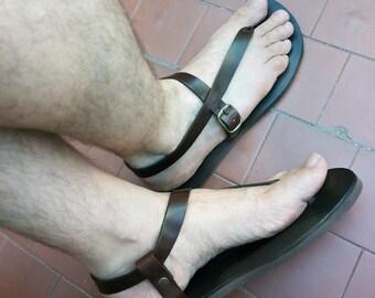 Leather Handmade Sandals Men and Women Minimalist Flip Flops