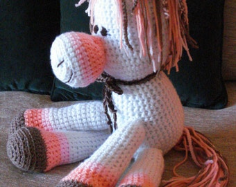 "Crocheted pony horse stuffed animal doll  toy ""Sparky"""