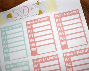 Tone it up Meal Tracker! Erin Condren Planner Stickers- set of 30 Stickers (052)