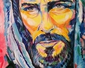 Jesus Christ Painting Passion Canvas Church Office Home Decor Religious Christian Father Son Faith Hope Love Face Master Compassion Fishing
