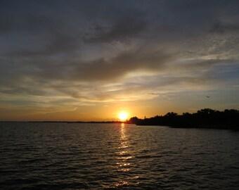 Sunset Photo, Sunset Photography, Beach Photo, Landscape, Water Photo