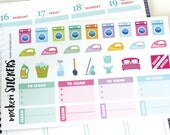 33 Cleaning and Chore Stickers - Perfect for Erin Condren Planners