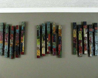abstract triptych wall art recycled pallet art reclaimed wood wall art upcycled art