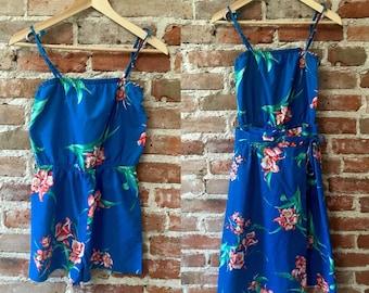 1970's Vintage Hawaiian Romper & Wrap Skirt Set, Size Small/Medium