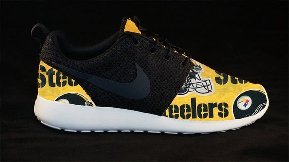 bb780445d5af nike roshe run pittsburgh steelers shoes