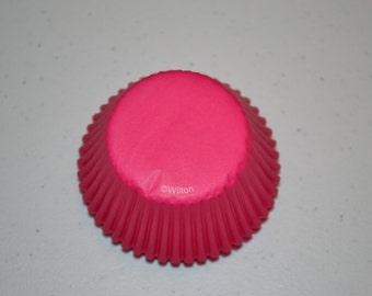 Hot Pink Cupcake Liners/Cupcake Liners/Birthday Cupcake Liners/Pink Cupcake Liners