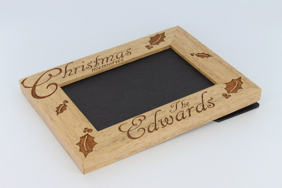 Custom Wood Engraved Photo Frames Personalized Christmas
