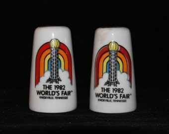 Vintage 1982 world's fair salt and pepper shakers