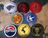 Game of Thrones House Patches! Easy iron patch ready in minutes! Represent your favorite house or houses! Game of Thrones inspired.