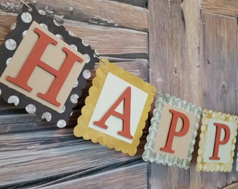 Happy Fall Banner, Fall Banner, Harvest Fall Banner, Happy Fall Sign, Fall Decoration, Happy Fall Decoration