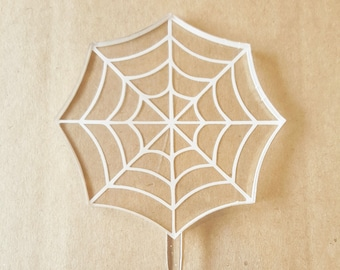 Acrylic Spiderweb Cupcake Toppers spider web cupcake toppers spiderman birthday party decorations spiderman cupcake boys birthday superhero