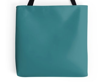 Basic Teal Tote Bag, Teal Bag, Teal Purse, Blue Green Bag, Teal Book Bag, Teal Tote, Teal Accessories, Teal Tote Bag, Teal Shopping Bag