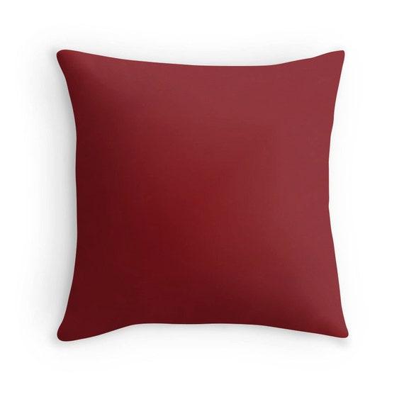 Brick Red Pillow Brick Red Throw Pillow Brick Red Decorative