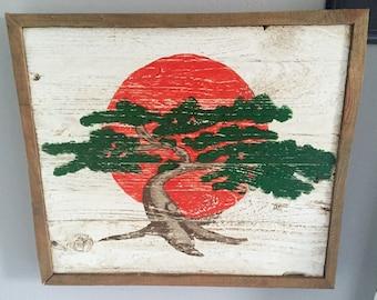 Hand Painted Vintage Styled Karate Kid Miyagi-Dojo Sign