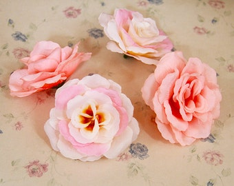 50 pcs Silk Artificial flower,2.95'' Flowers,Flower  head,floral supplies for wedding party(122-21)